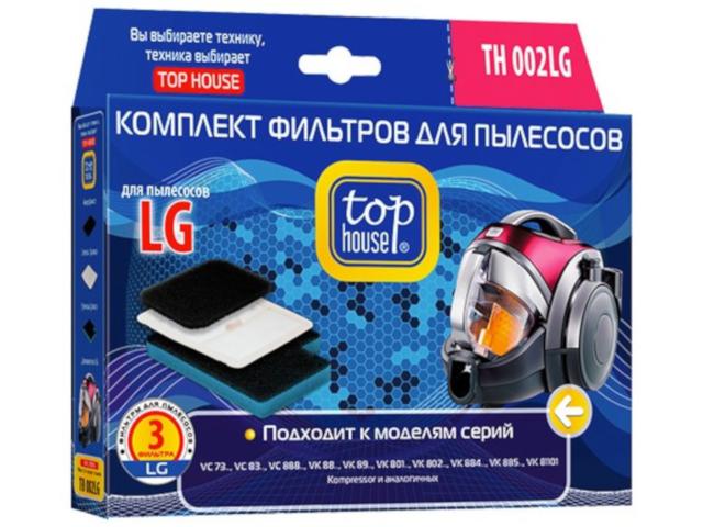 Комплект фильтров Top House TH 002LG для пылесосов LG 3 шт 4660003392807