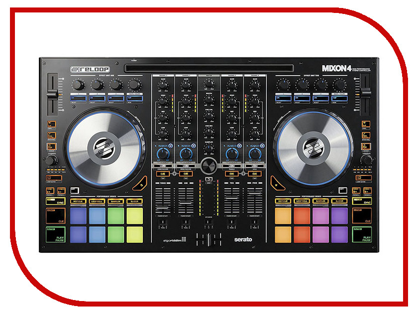 Dj контроллер Reloop Mixon 4 dj наушники reloop rhp 30 black