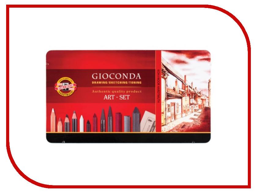 Набор художественный Koh-i-Noor Gioconda 39 предметов 8891000001PL набор угольных карандашей koh i noor gioconda 3 шт