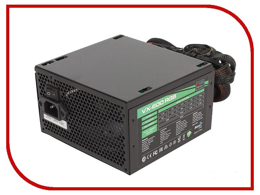 Блок питания AeroCool Retail VX-600 600W RGB видеорегистратор intego vx 430mr