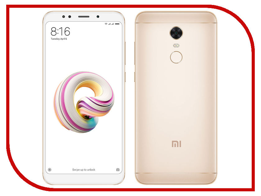 Сотовый телефон Xiaomi Redmi 5 Plus 3Gb RAM 32Gb Gold