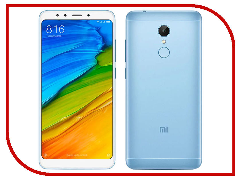 Сотовый телефон Xiaomi Redmi 5 2Gb RAM 16Gb Blue сотовый телефон xiaomi redmi 5 plus 4gb ram 64gb blue