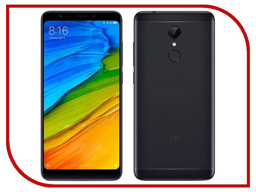 Сотовый телефон Xiaomi Redmi 5 2Gb RAM 16Gb Black сотовый телефон xiaomi redmi 5 plus 4gb ram 64gb gold