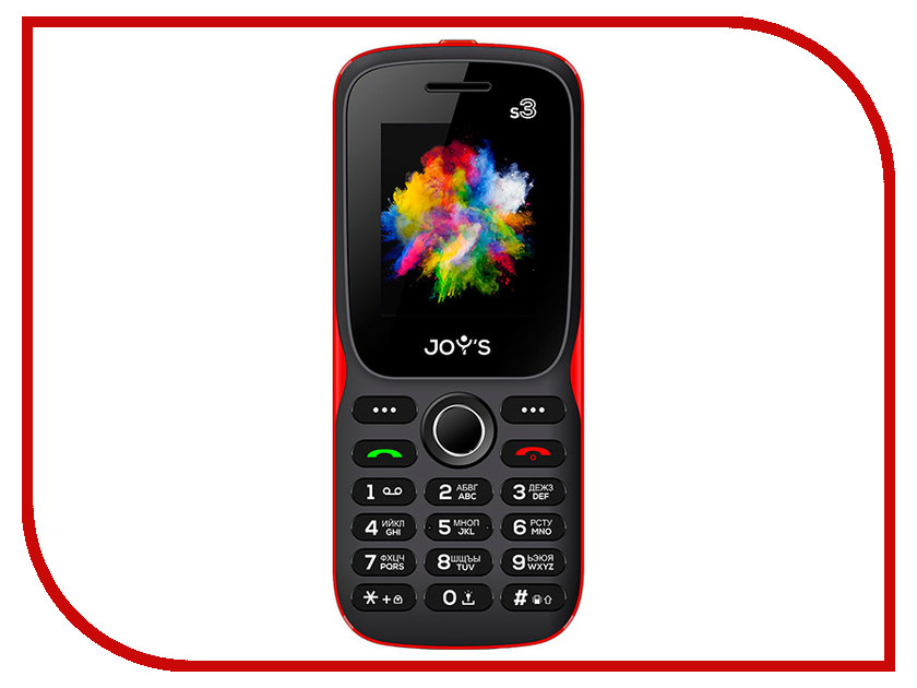 Сотовый телефон Joys S3 DS Black-Red