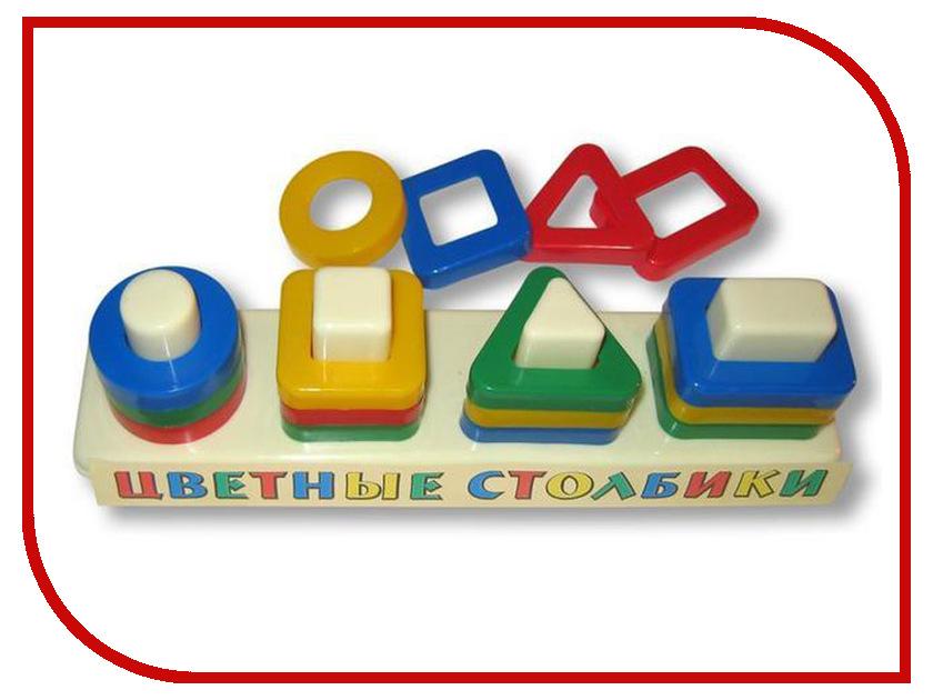 Сортер Аэлита Цветные столбики ЦТ-1 аэлита развивающая игра цветные столбики