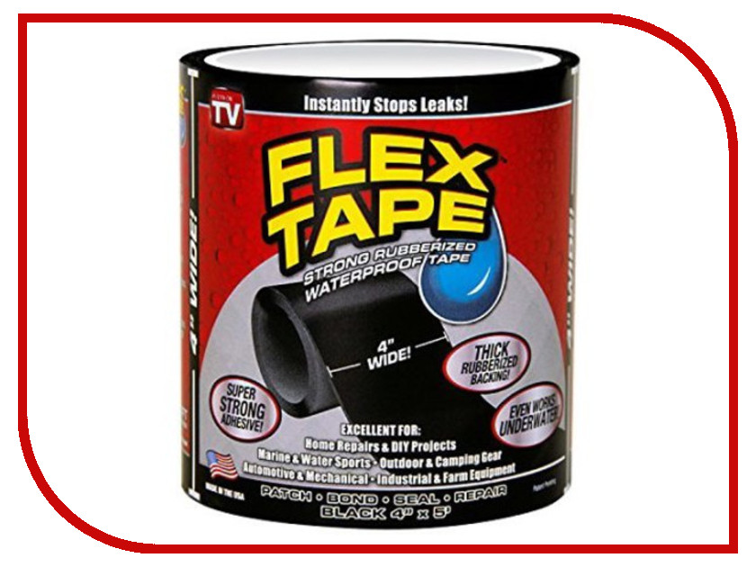 Лента As Seen On TV Flex Tape Black