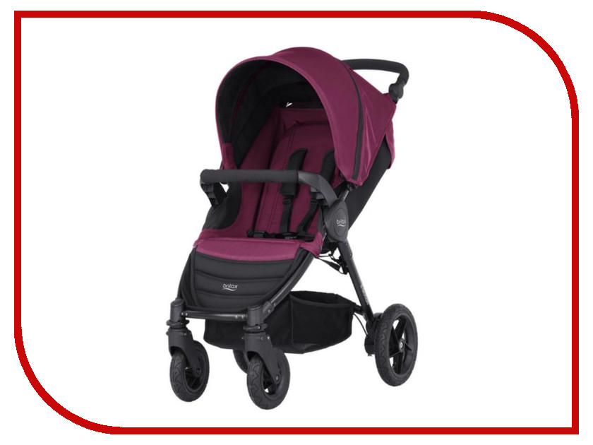 Коляска Britax Romer B-Motion 4 Wine Red 2000025707 коляска britax romer b agile wood brown 2000023124