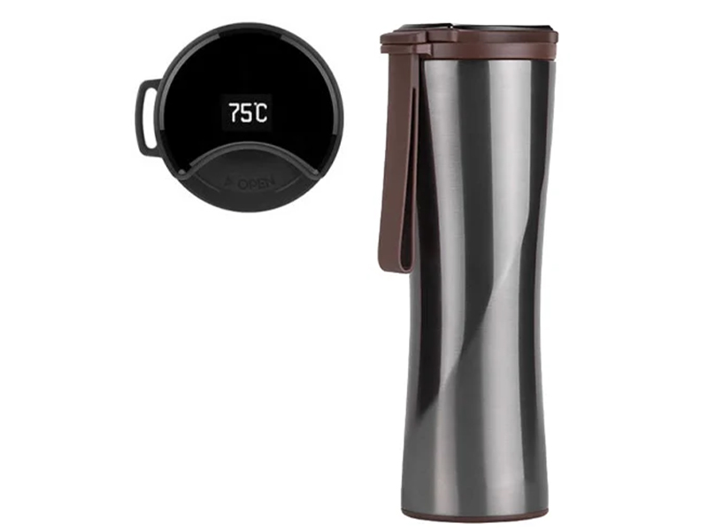 Термос Xiaomi Kiss Kiss Fish Light Smart Insulation Cup 430ml Grey цена и фото