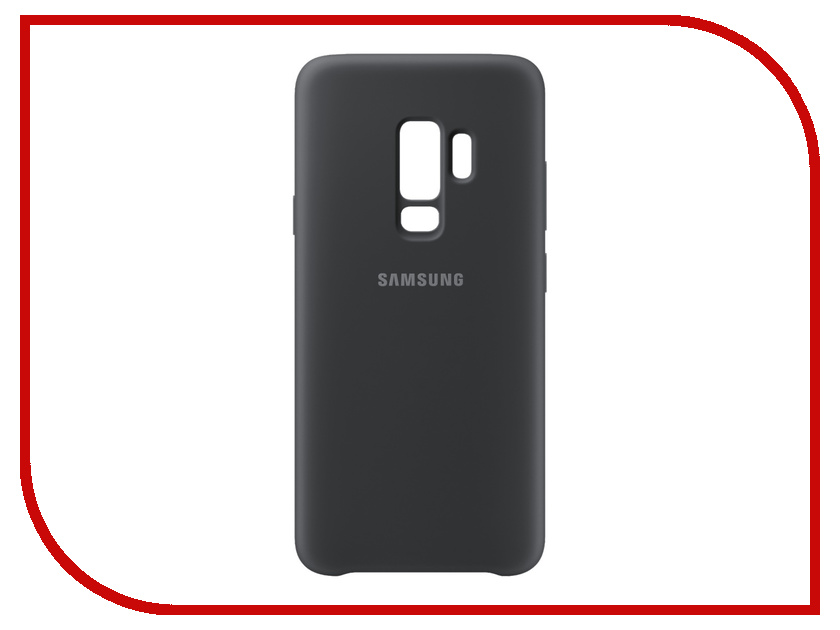 Аксессуар Чехол Samsung Galaxy S9 Plus Silicone Cover Black EF-PG965TBEGRU аксессуар чехол samsung galaxy s9 plus alcantara cover red ef xg965aregru
