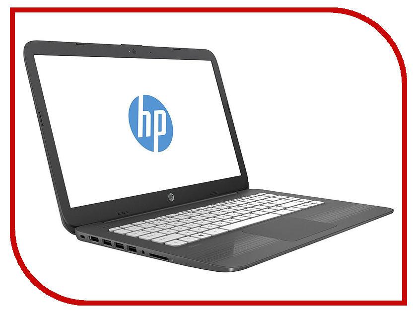 Ноутбук HP Stream 14-ax018ur (Intel Celeron N3060 1600 MHz/14/1366x768/4Gb/32Gb eMMC/DVD нет/Intel HD Graphics 400/Wi-Fi/Bluetooth/Windows 10 Home) ноутбук hp 15 ra032ur intel celeron n3060 1600 mhz 15 6 1366x768 4gb 500gb hdd dvd rw intel hd graphics 400 wi fi bluetooth dos
