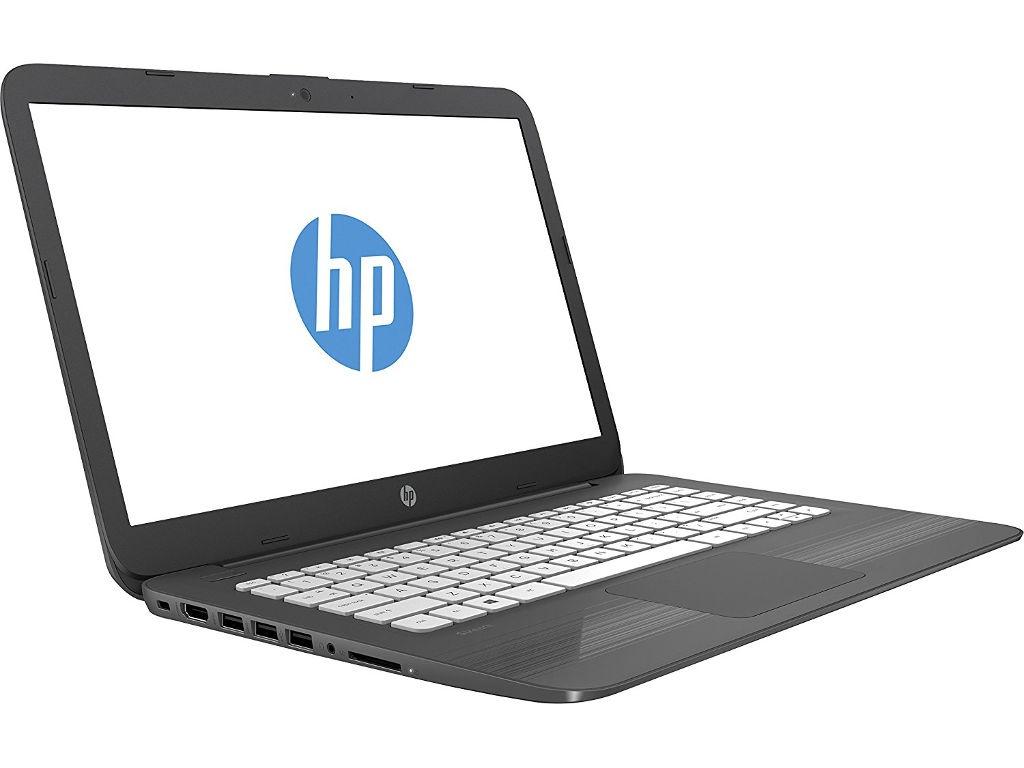 Ноутбук HP Stream 14-ax018ur (Intel Celeron N3060 1600 MHz/14/1366x768/4Gb/32Gb eMMC/DVD нет/Intel HD Graphics 400/Wi-Fi/Bluetooth/Windows 10 Home) lenovo ideapad 110 15ibr 80t700c0rk intel celeron n3060 1600 mhz 15 6