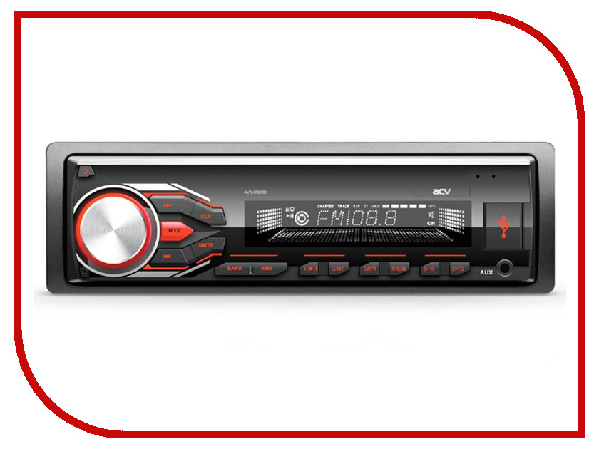 Автомагнитола ACV AVS-1722RD автомагнитола acv avs 1722wd