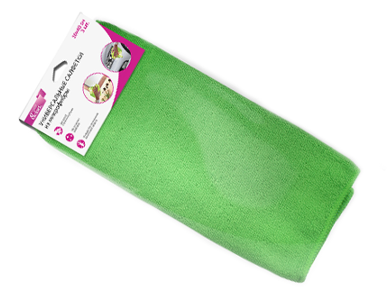 Универсальная салфетка из микрофибры Partner 3шт Green ПР038420 цена