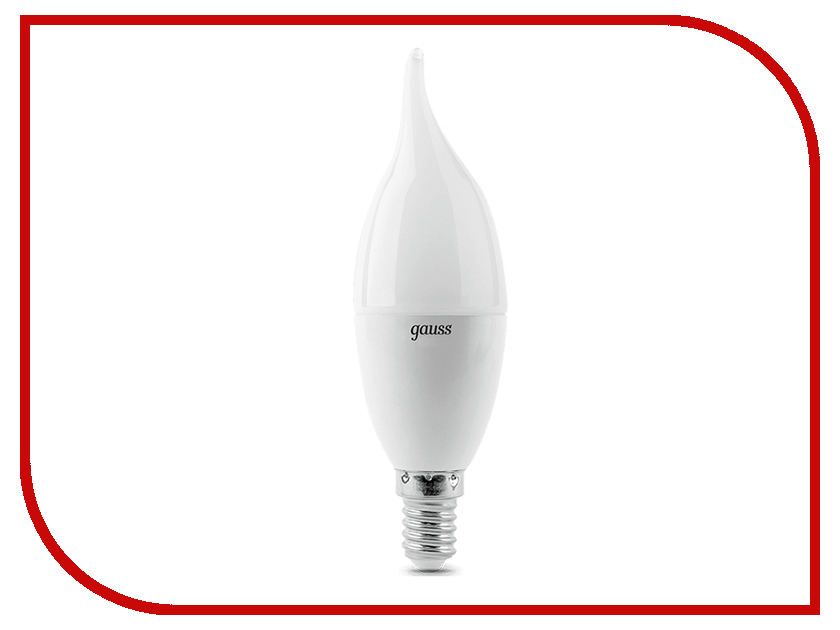 Лампочка Gauss LED Candle Tailed E14 9.5W 3000K 104101110 e14 4w 3000k 200lm 32 x smd 3014 led candle bulb ac 85 265v