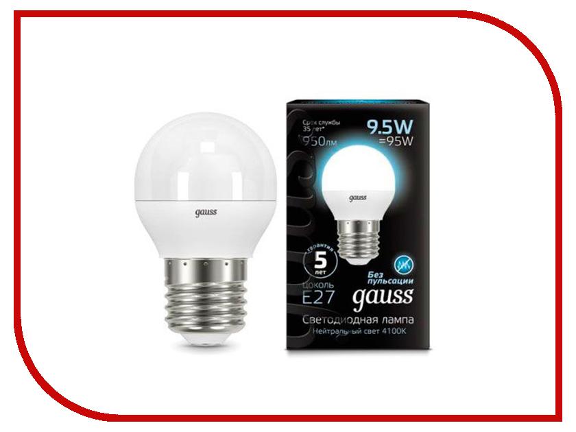 Лампочка Gauss LED Globe E27 9.5W 4100K 105102210 цена 2017