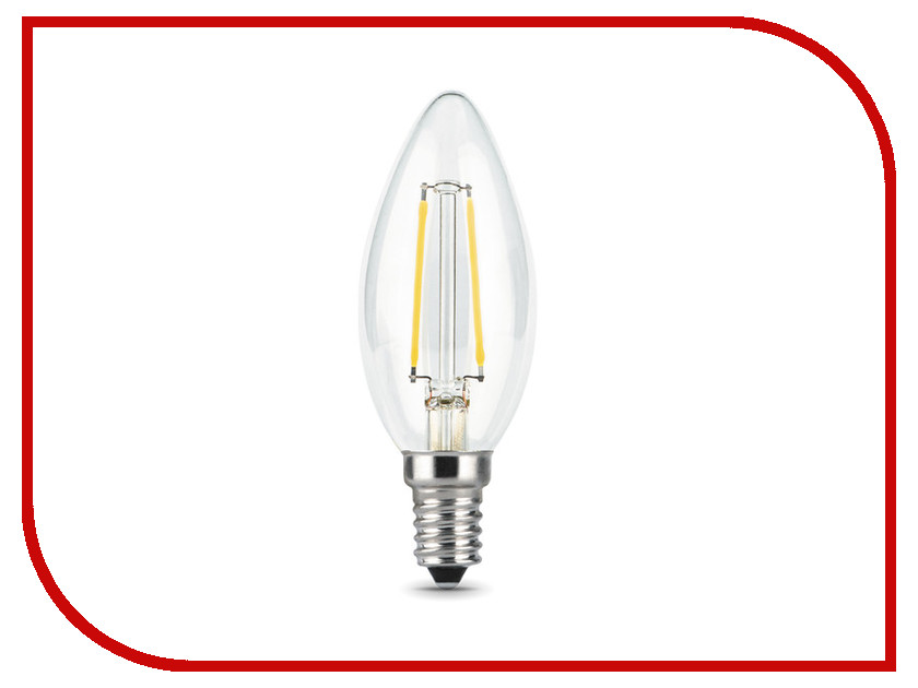 Лампочка Gauss LED Filament Candle E14 9W 2700K 103801109 лампочка ipower premium 3w 2700k 250lm e14 ippb3w2700ke14 1001956