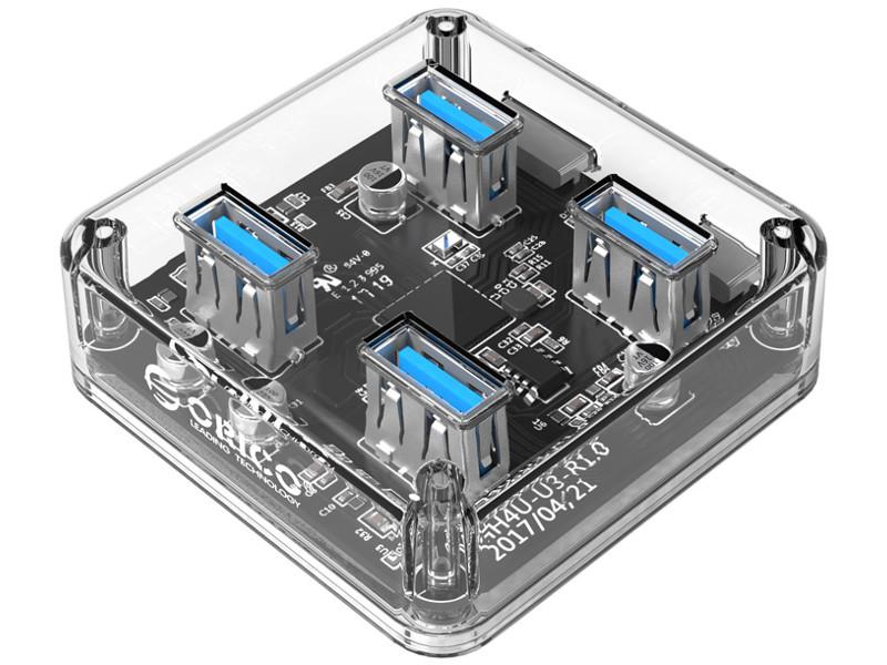 Хаб USB Orico MH4U-U3 Transparent
