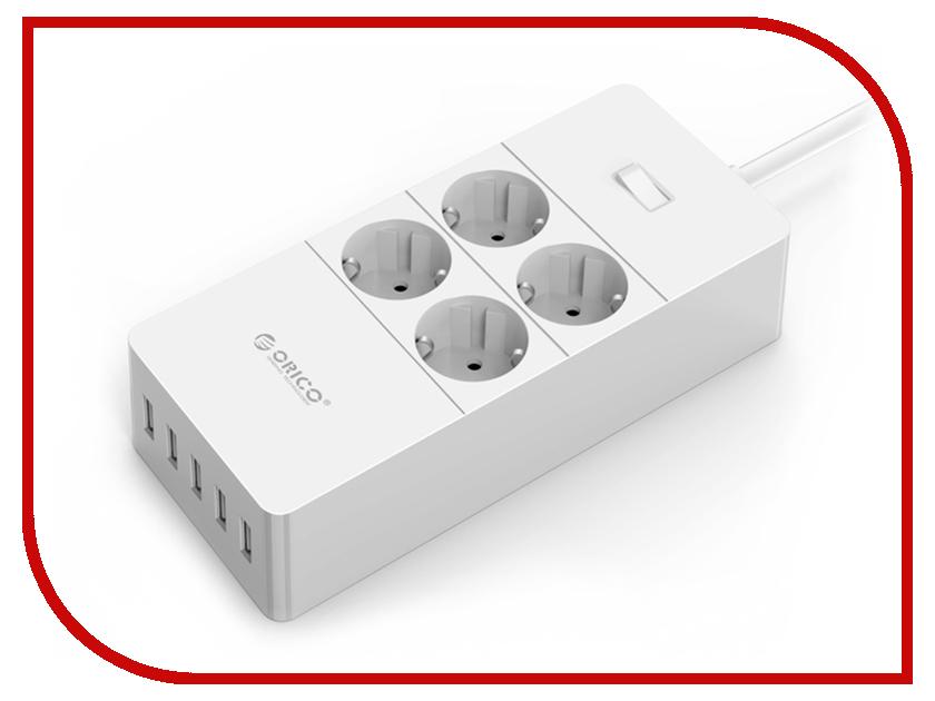 Сетевой фильтр Orico HPC-4A5U-WH White кабель ввгнг 3x1 5 5 метров