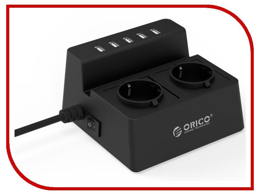Сетевой фильтр Orico ODC-2A5U-BK Black сетевой фильтр orico odc 2a5u v1 eu wh white