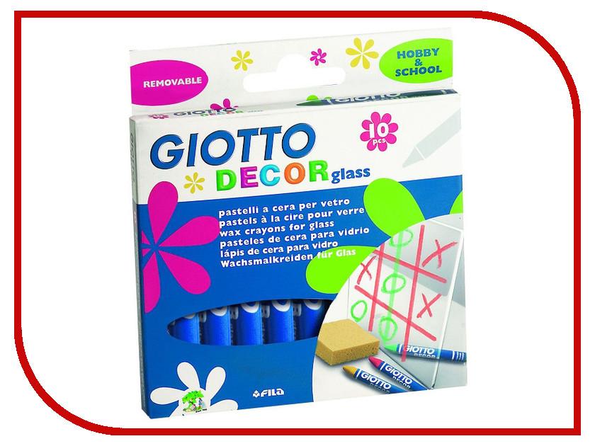 Giotto Decor Glass Восковые карандаши для стекла 10 цветов 441000 краска акриловая giotto decor acrylic 25мл цвет золото