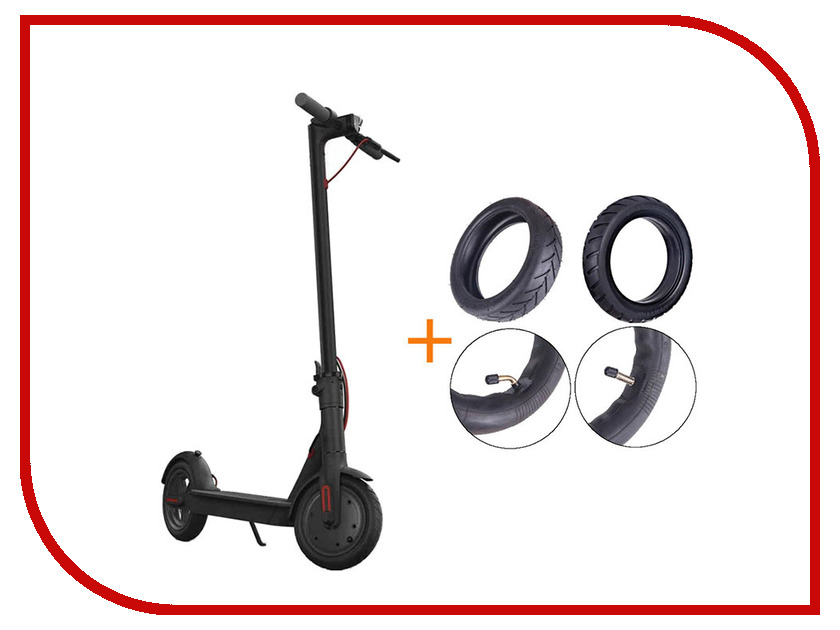 Электросамокат Mijia M365 Xiaomi Electric Scooter + комплект покрышек Black