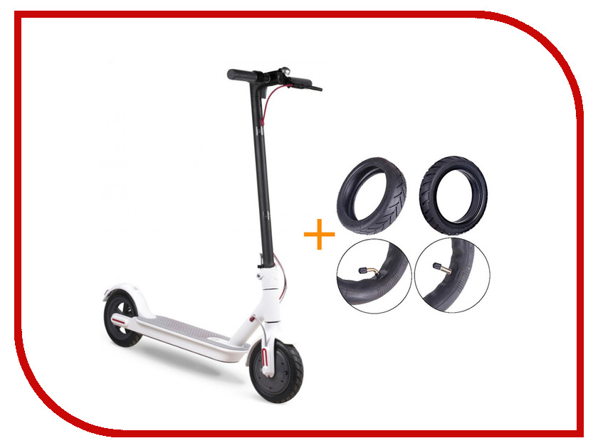 Электросамокат Mijia M365 Xiaomi Electric Scooter + комплект покрышек White