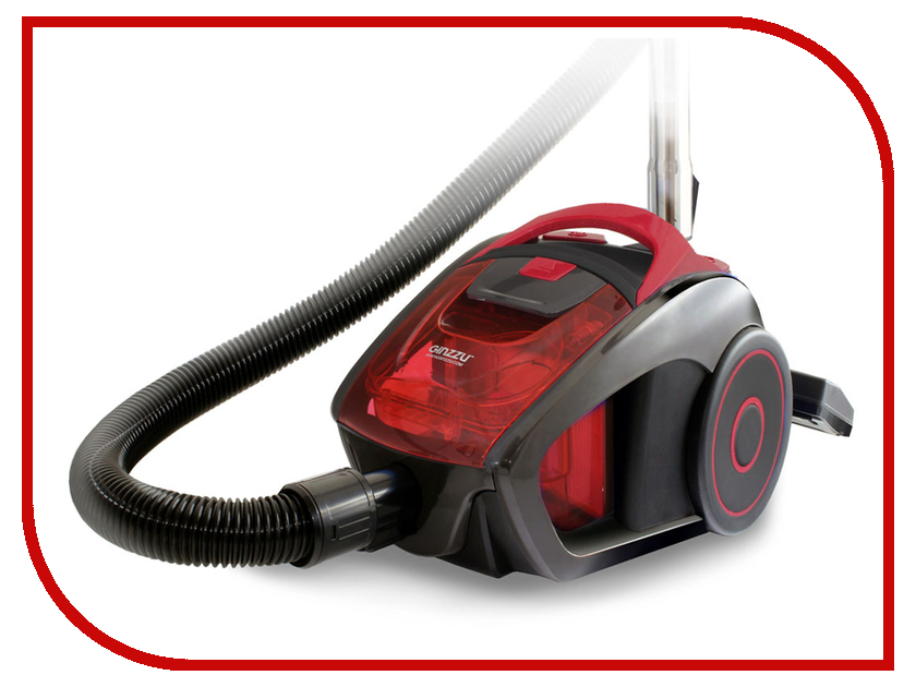 Пылесос Ginzzu VS429 Grey-Red пылесос ginzzu vs419