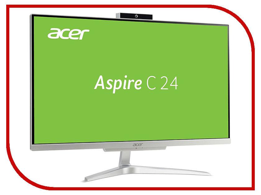Моноблок Acer Aspire C24-860 Silver DQ.BACER.007 (Intel Core i3-7130U 2.7 GHz/4096Mb/500Gb/Intel HD Graphics/Wi-Fi/Bluetooth/23.8/1920x1080/DOS) неттоп asus vivopc vm42 s031m sl 90ms00b1 m00310 intel celeron 2957u 1 4 ghz 4096mb 500gb intel hd graphics wi fi bluetooth dos