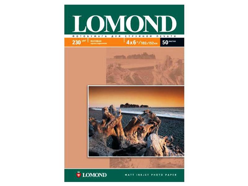 Фотобумага Lomond A6 230g/m2 матовая односторонняя 50 листов 102086