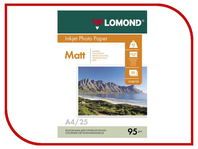Фотобумага Lomond А4 95g/m2 матовая односторонняя 25 листов 0102130