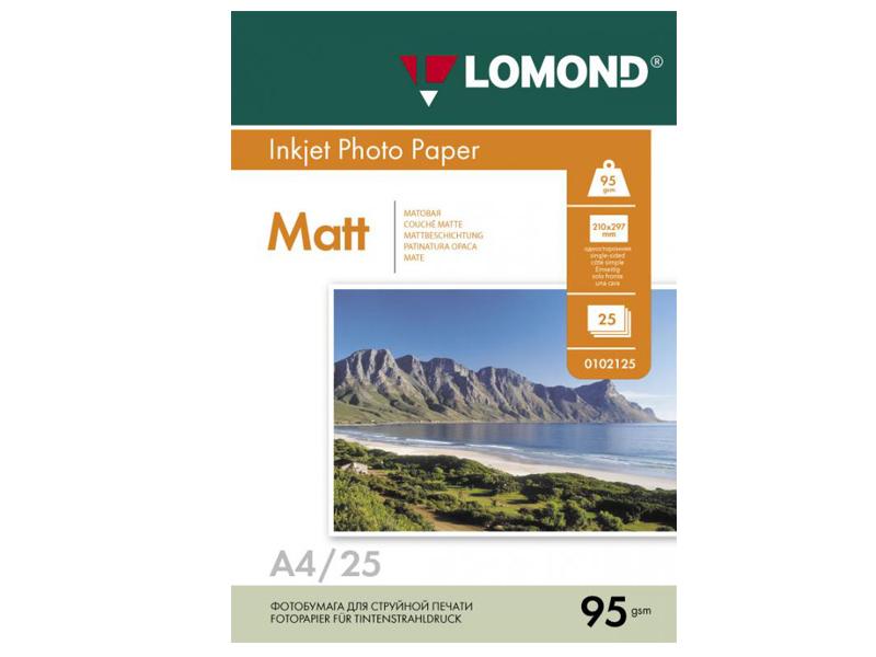 Фотобумага Lomond А4 95g/m2 матовая односторонняя 25 листов 102130