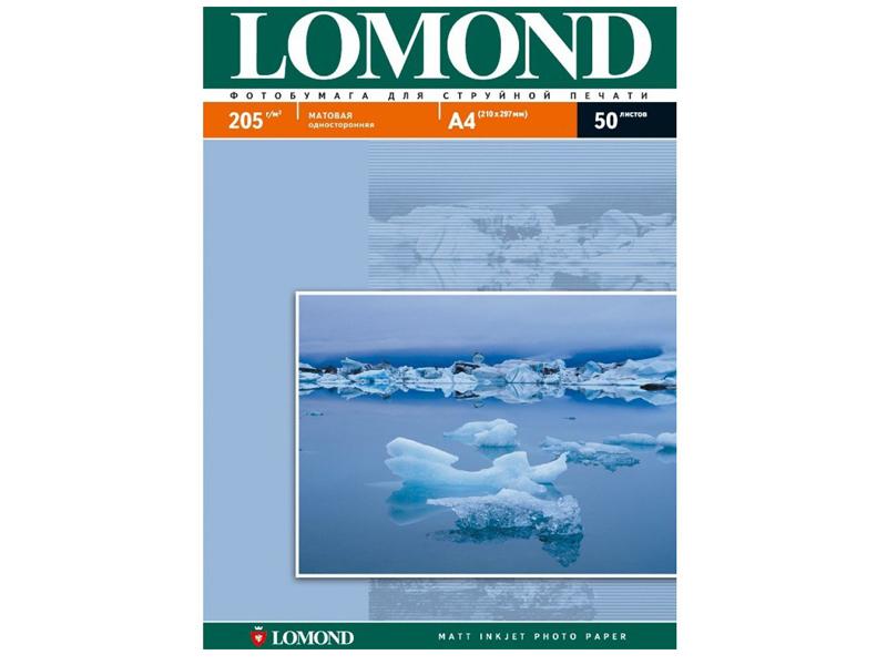 Фотобумага Lomond А4 205g/m2 матовая односторонняя 50 листов 102085
