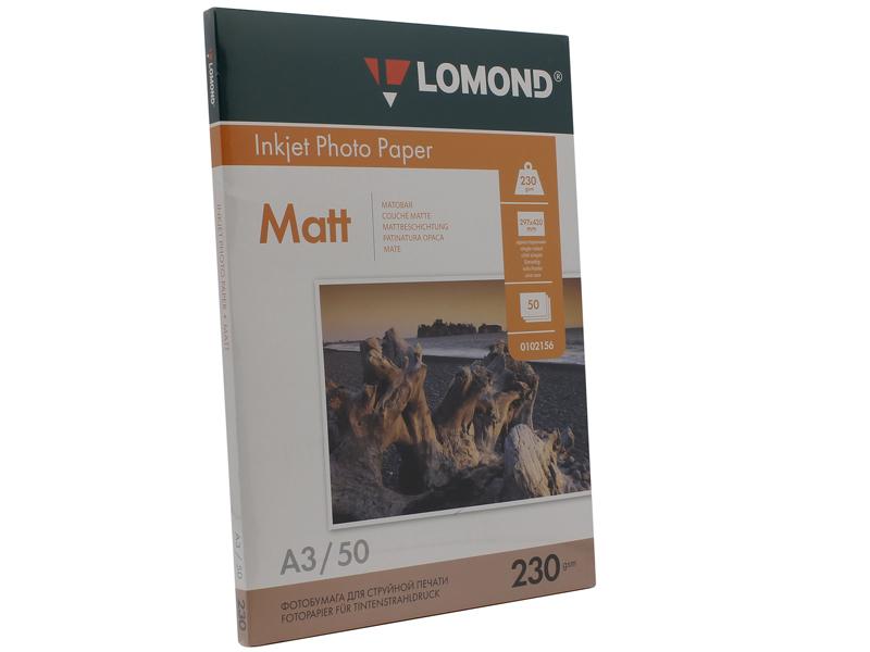 Фотобумага Lomond А3 230g/m2 матовая односторонняя 50 листов 102156