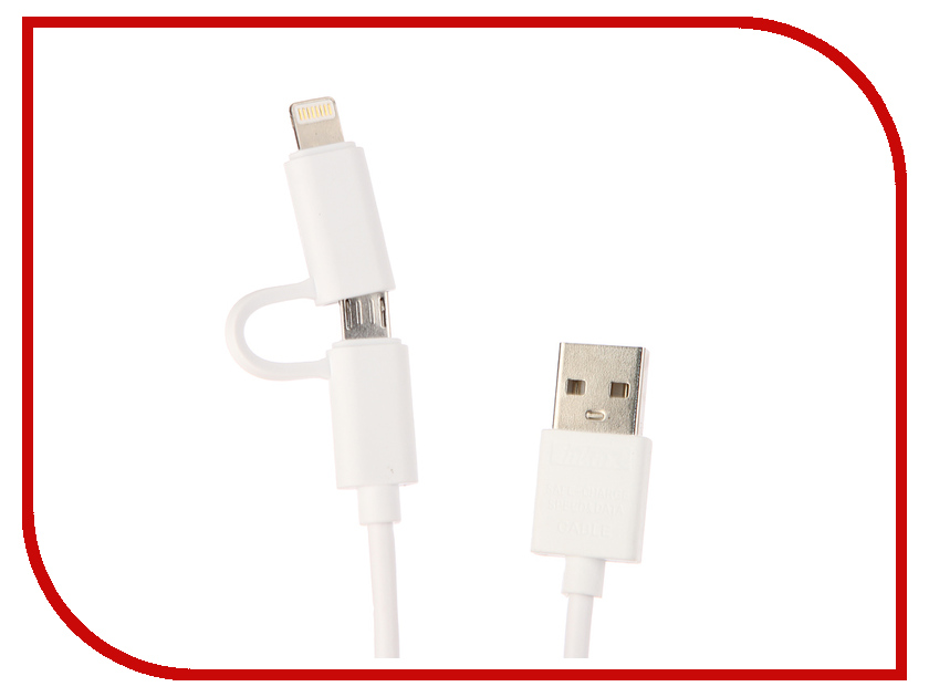 Аксессуар Inkax кабель 2в1 microUSB/iPhone 5/6/7 для Apple iPhone 5/6/7 CK-35 White аксессуар luazon iphone 4 5 3 in 1 microusb 155884