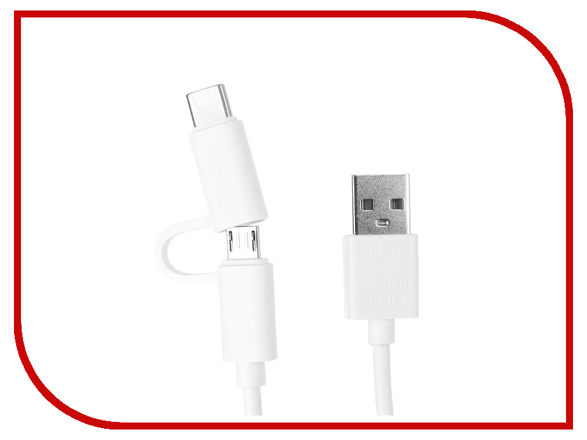 Аксессуар Inkax 2в1 USB microUSB/type-c CK-35 White рюкзак erg ns xo 25l stripes l ck erry ltlil c 3725