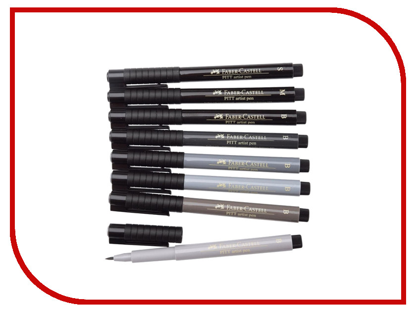 Набор капиллярных ручек Faber-Castell Manga Набор 8шт Grey 167107 touchnew six generation alcohol oily mark pen 30 36 40 color oil based students hand painted suits fine markers drawings manga