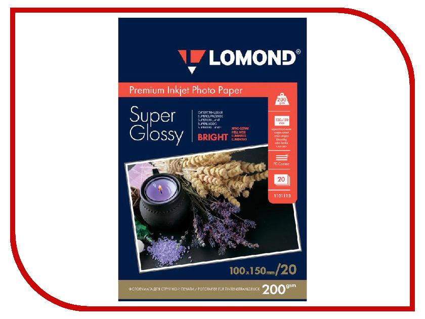 Фотобумага Lomond A6 200g/m2 Super Glossy Bright односторонняя 20 листов 1101113