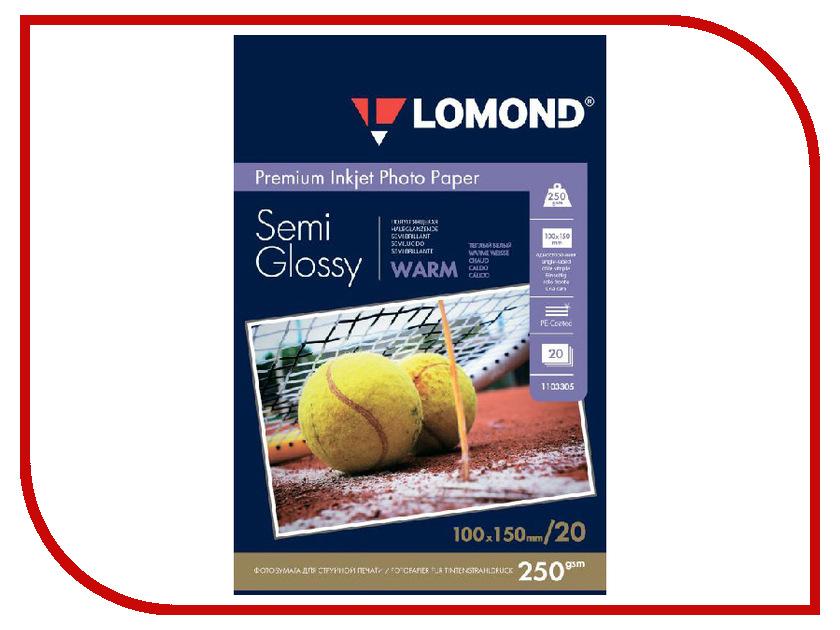 Фотобумага Lomond A6 250g/m2 Semi Glossy Warm односторонняя 20 листов 1103305