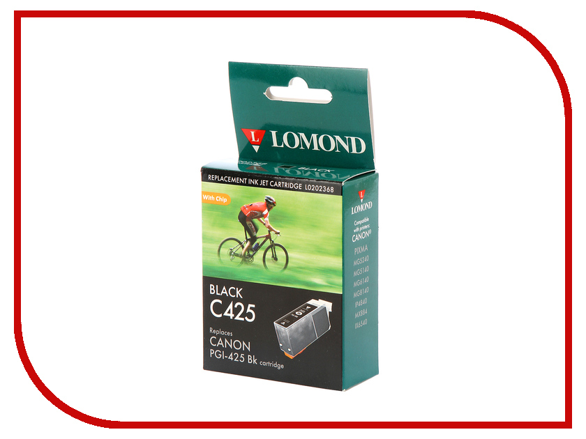 Картридж Lomond L0202368 Black для Canon Pixma MG5240/5140/6140/8140/IP4840/MX884/IX6540 t2 ic cpgi 425bk картридж для canon pixma ip4840 mg5140 mg6140 mg8140 mx884 black