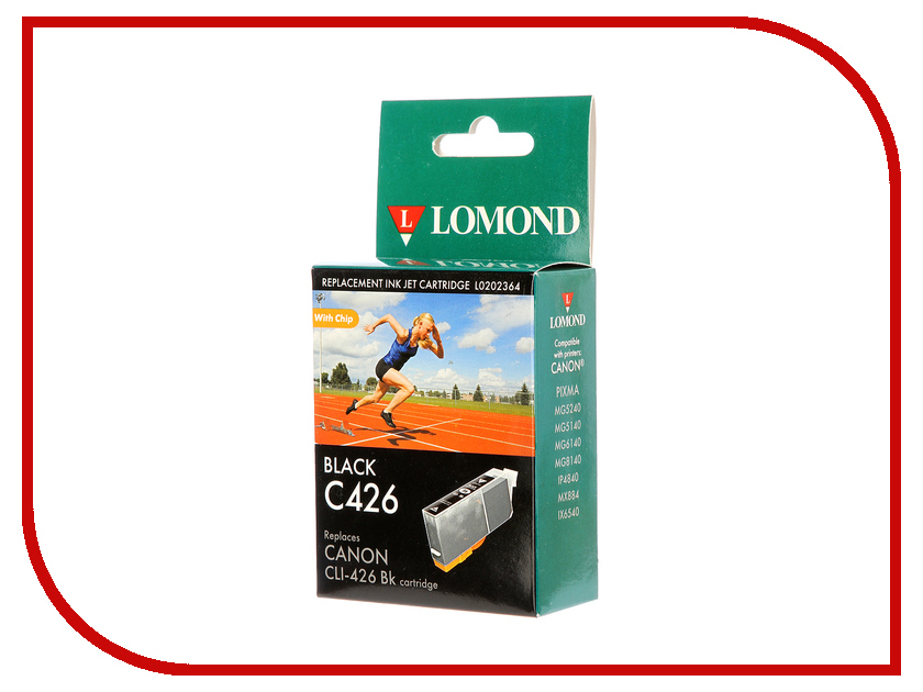 Картридж Lomond L0202364 Black для Canon Pixma MG5240/5140/6140/8140/IP4840/MX884/IX6541 t2 ic cpgi 425bk картридж для canon pixma ip4840 mg5140 mg6140 mg8140 mx884 black