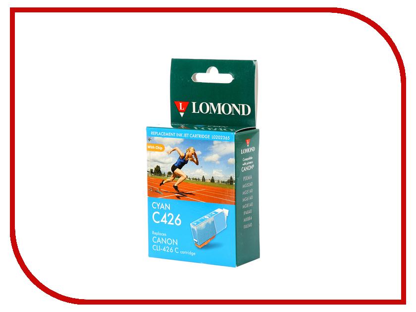 Картридж Lomond L0202365 Cyan для Canon Pixma MG5240/5140/6140/8140/IP4840/MX884/IX6542 t2 ic cpgi 425bk картридж для canon pixma ip4840 mg5140 mg6140 mg8140 mx884 black
