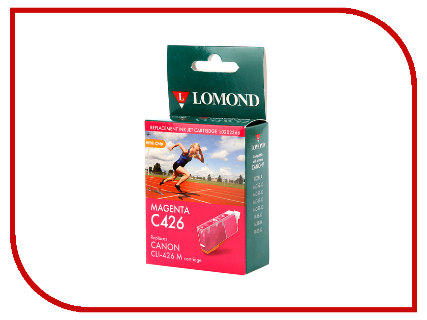 Картридж Lomond L0202366 Magenta для Canon Pixma MG5240/5140/6140/8140/IP4840/MX884/IX6543 t2 ic cpgi 425bk картридж для canon pixma ip4840 mg5140 mg6140 mg8140 mx884 black