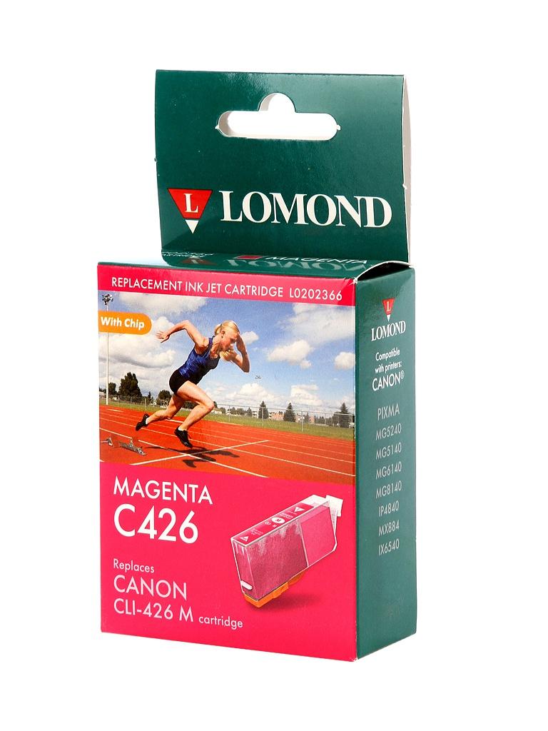 Картридж Lomond L0202366 Magenta для Canon Pixma MG5240/5140/6140/8140/IP4840/MX884/IX6543
