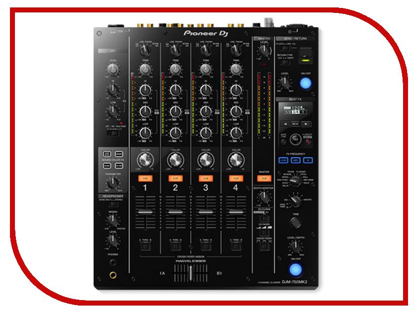 Пульт Pioneer DJM-750MK2 микшер pioneer djm 350 dj usb