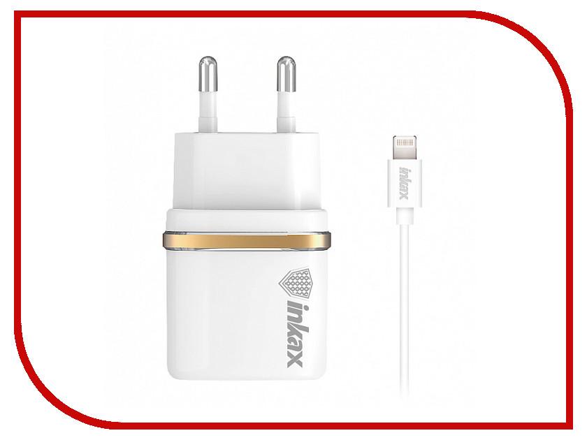 Зарядное устройство Inkax СЗУ 2в1 8pin для iPhone 5/6/7 CD-11-IP White зарядное устройство inkax type c cd 12 type c white