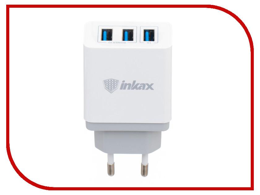 Зарядное устройство Inkax СЗУ 2в1 8pin для iPhone 5/6/7 CD-26-IP White песни для вовы 308 cd