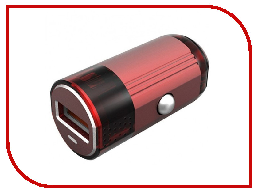 Зарядное устройство EMY MY-118 Lightning 8pin 2400 mAh Red трусы emy form 2014 eb1672 eb1673 eb1715 e16731