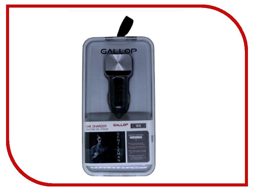 цены Зарядное устройство Gallop Gentleman 2xUSB 2100mA Black