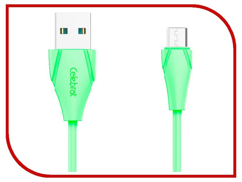 Аксессуар Celebrat USB-microUSB CB-01M Green 01m 01p auto transmission pump fit for audi vw 01m 095 096 01p 098 ag4 4 sp fwd refurbishment