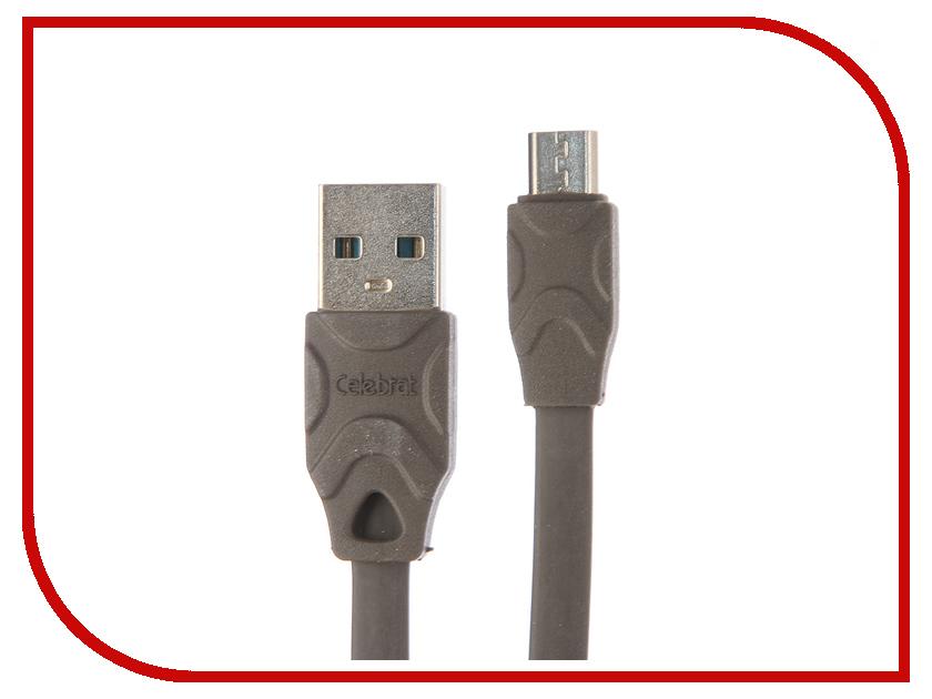 Аксессуар Celebrat USB-microUSB CB-02M Grey police pl 12921jsb 02m